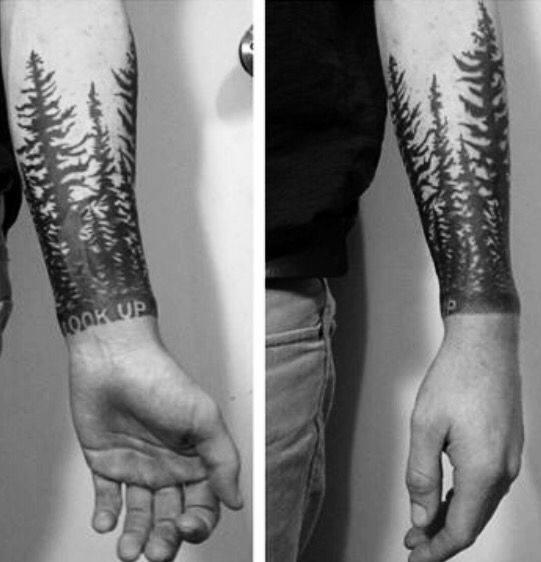 Tree Line Guys Tattoo Designs