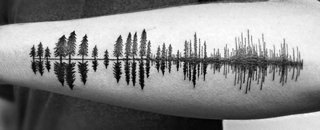 Tree Line Tattoo Design Ideas For Men