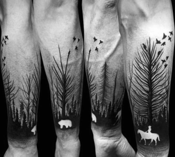 Tree Line Tattoo Designs For Men