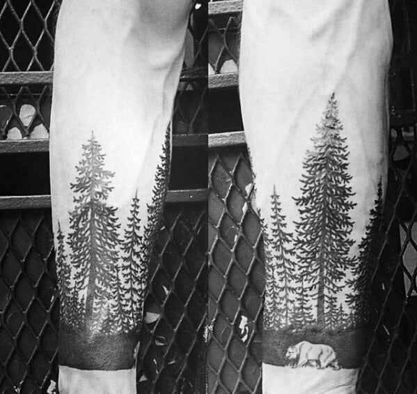 Tree Line Tattoo Ideas For Men