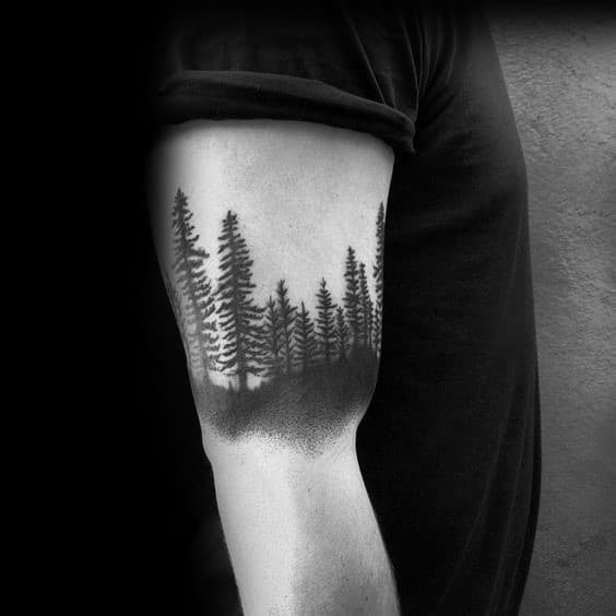 50 Tree Line Tattoo Design Ideas For Men Timberline Ink