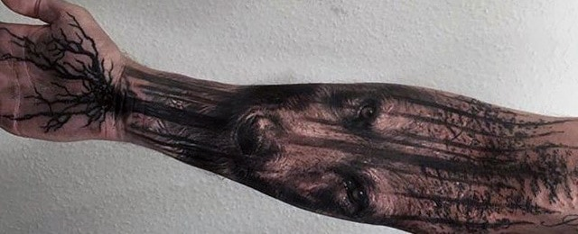 Tree Roots Tattoo Designs For Men