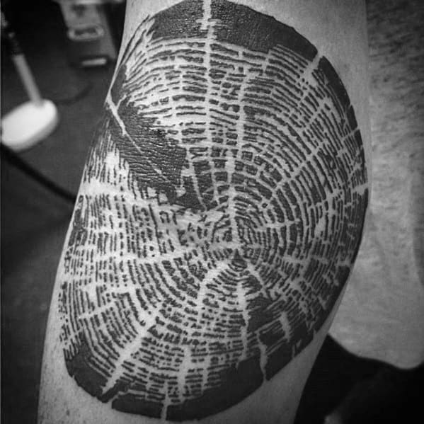 Tree Strump Wood Male Ditch Tattoo Ideas