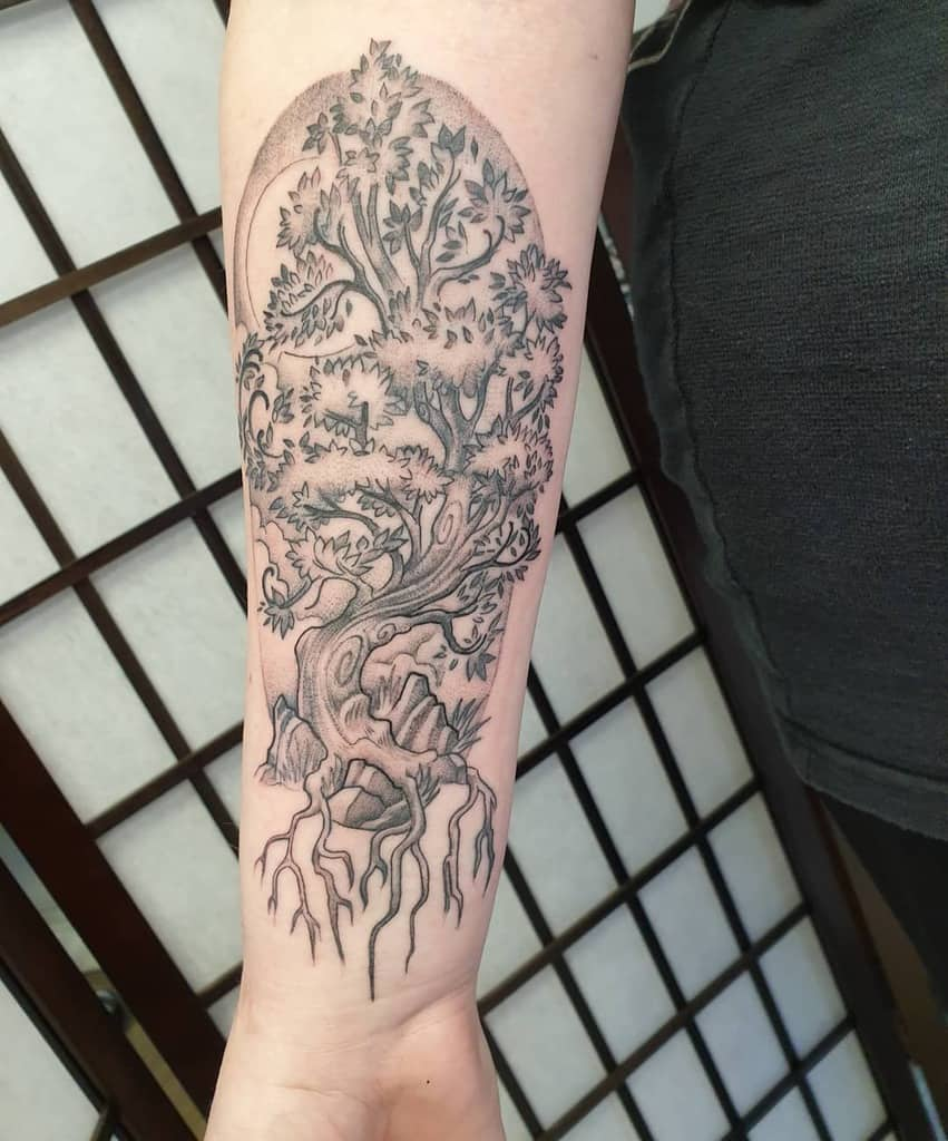 tree yggdrasil tattoo