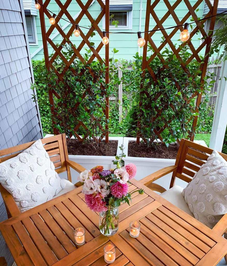 trellis for small pots and raised garden garden trellis ideas elizabethandpenn