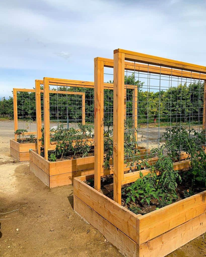 trellis for small pots and raised garden garden trellis ideas farmsteadgarden