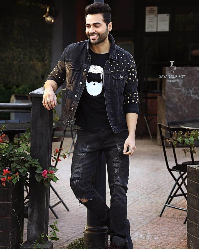 Veste en jean noire tendance
