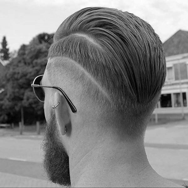 Trendy Hairstyle Men Slicked Back