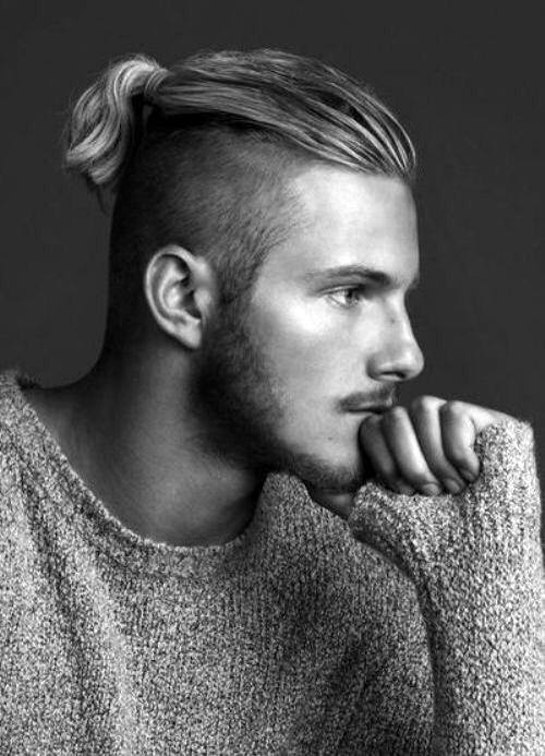 Trendy Long Hair Undercut Men