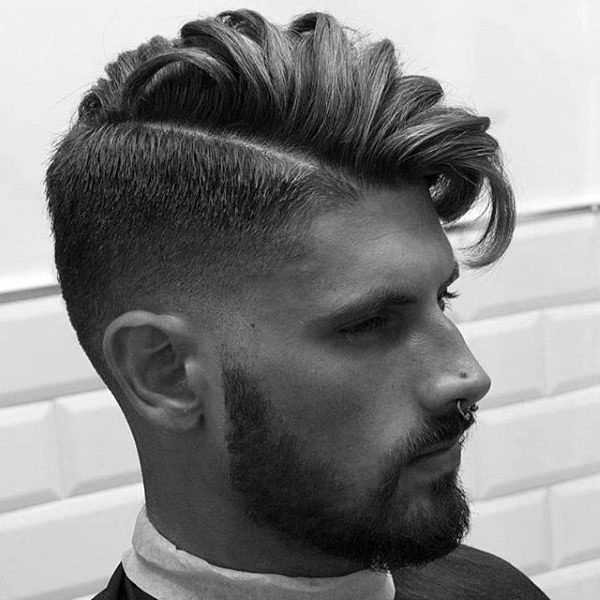 Trendy Long Hairstyles For Men Wavy Comb Over