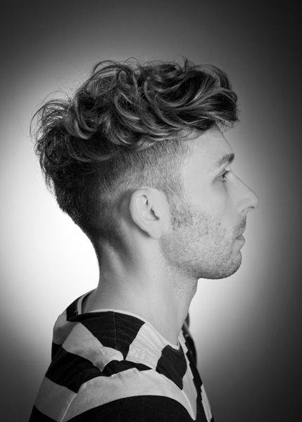 Trendy Medium Long Mens Undercut Hairstyle