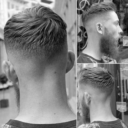 Trendy Mens Short Hairstyle With Fade