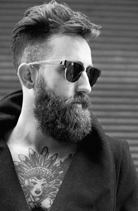 Trendy Mens Straight Hair With Undercut Fade