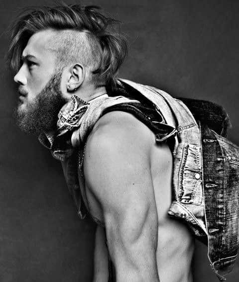 Trendy Mens Undercut With Long Hair On Top