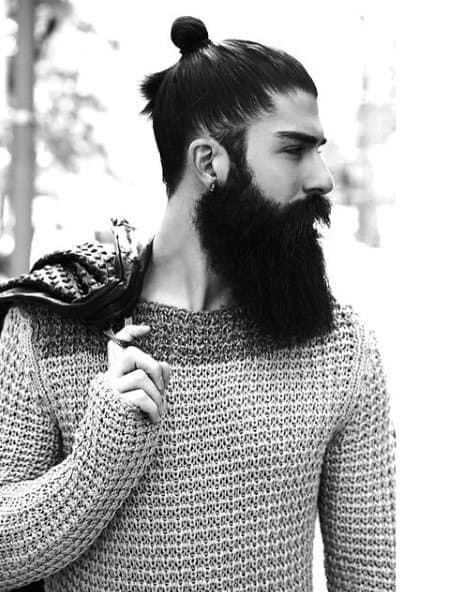 Trendy Samurai Hairstyles With Long Length For Guys