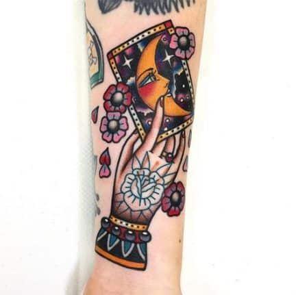 Carte de tarot à la mode Gypsy Tattoo