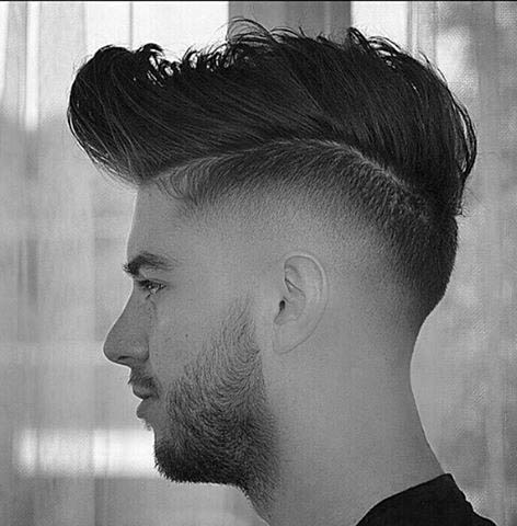 Trendy Thick Medium High Fade Hairstyles For Males