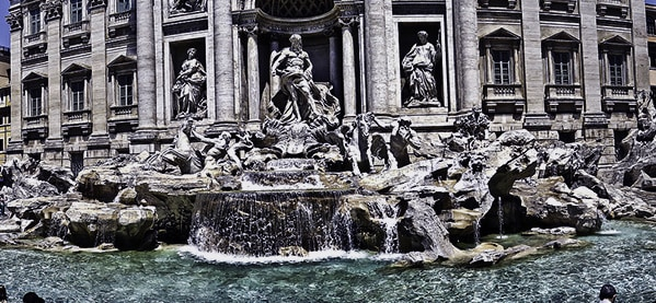 Trevi Fountain Italy Coin Toss