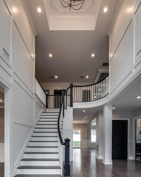 Trey Ceiling Chandelier With Recessed Light Cans Foyer Ideas Lighting