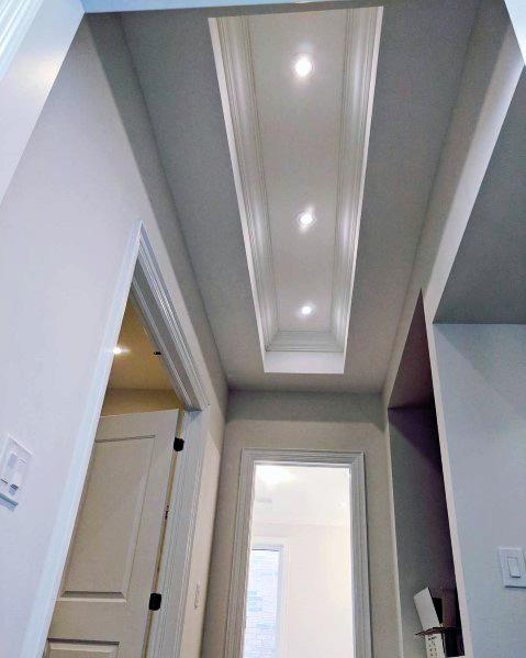 Trey Ceiling Recessed Can Lights Hallway Lighting Cool Interior Ideas
