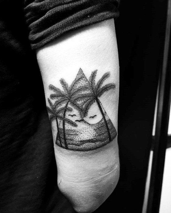 wedding in a garage ideas - 40 Small Beach Tattoos For Men Seashore Design Ideas