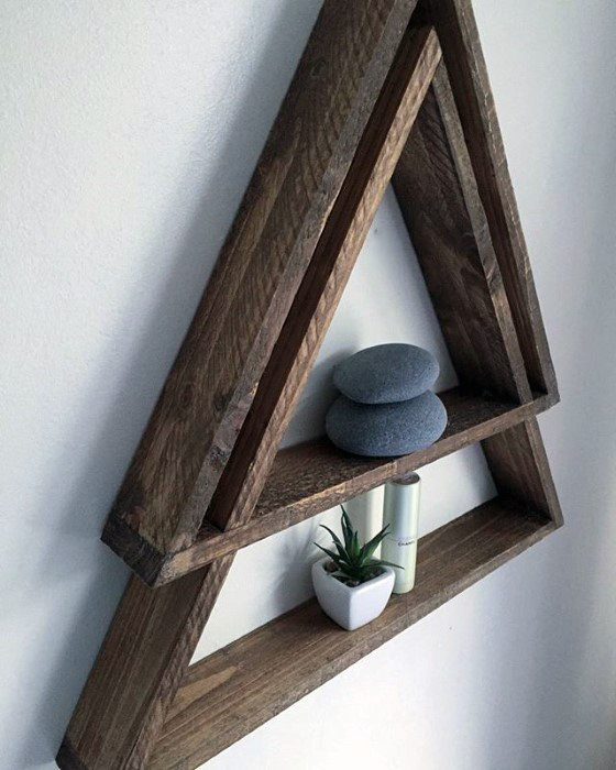 Triangle Shelf On Wall Diy Man Cave Ideas