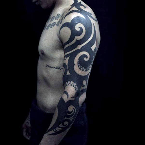Tribal Arm Sleeve Tattoo Designs For Guys