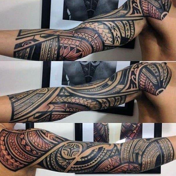 Tribal Arm Sleeve Tattoos On Guys