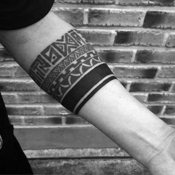 70 armband tattoo designs for men masculine ink ideas tribal armband tattoo for guys with solid black lines urmus
