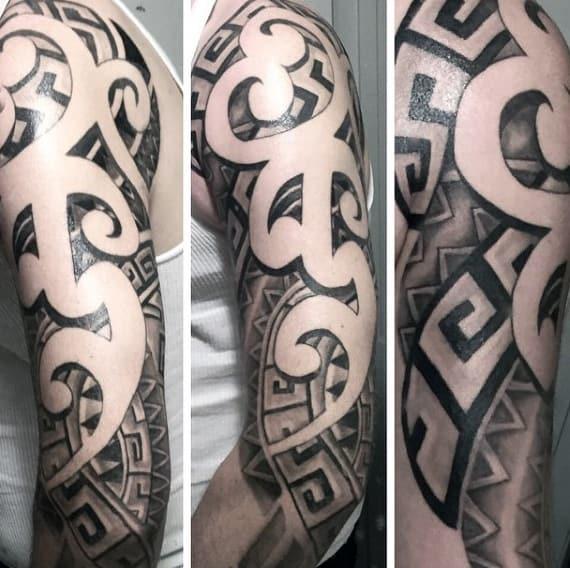 Tribal Aztec Eagle Tattoos For Men