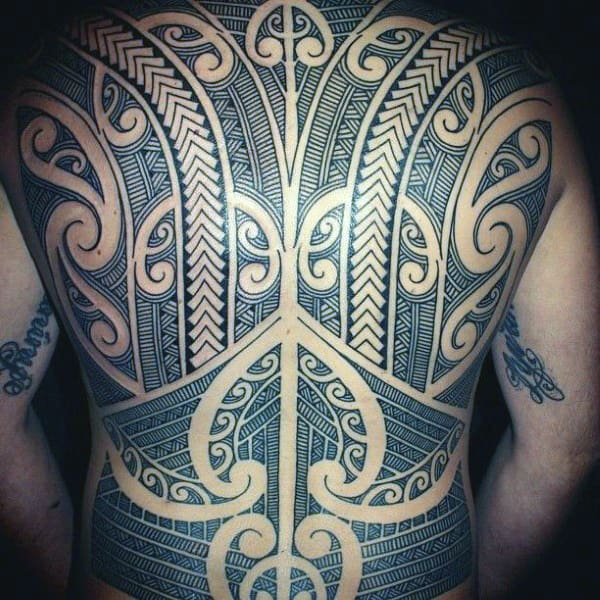 Tribal Back Male Tattoo Designs