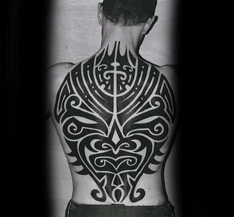 Tribal Back Piece Guys Tattoos