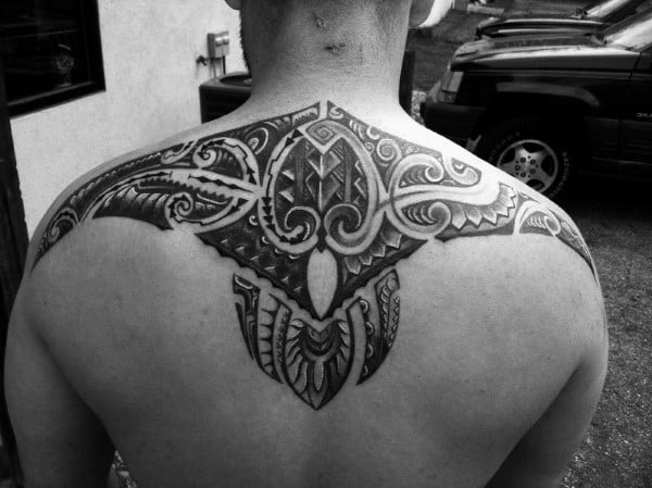 Tribal Back Tattoos Men