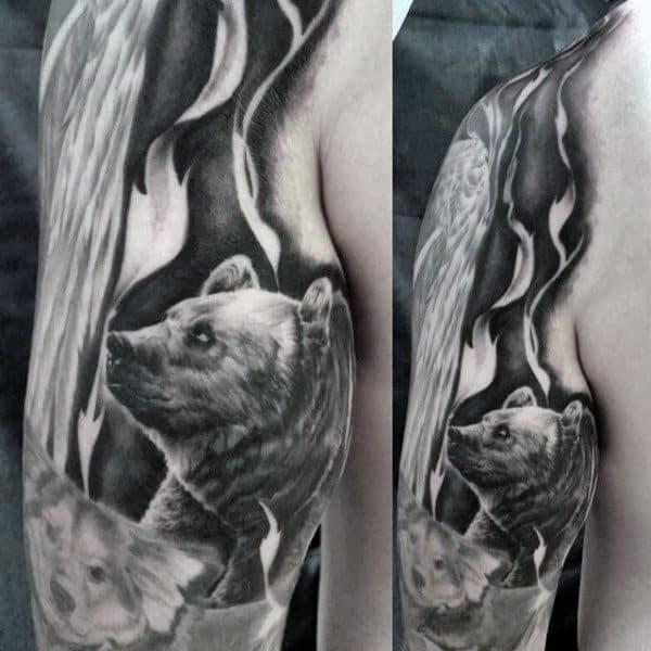 Tribal Bear Tattoos For Men