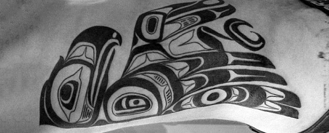 Tribal Bird Tattoo Designs For Men