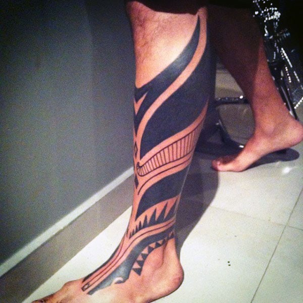 Tribal Blackwork Modern Mens Tribal Tattoos