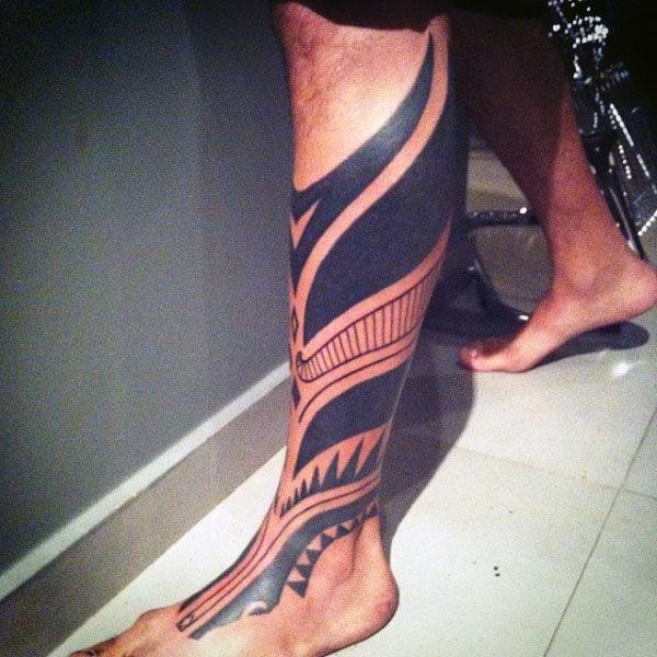 Tribal Blackwork Modern Mens Tribal Tattoos