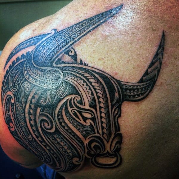Tribal Bull Riding Tattoos For Men