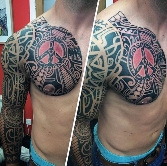 Tribal Forearm Guys Sleeve Tattoos