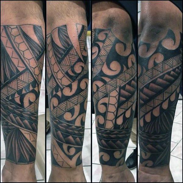 Tribal Forearm Tattoo Designs For Gentlemen