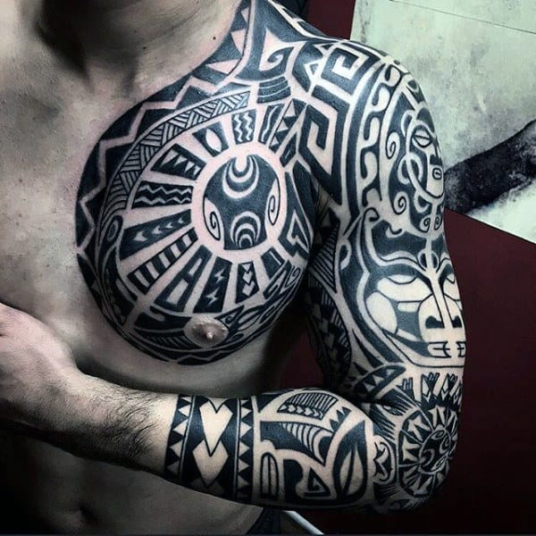 Tribal Full Sleeve Mens Tattoo