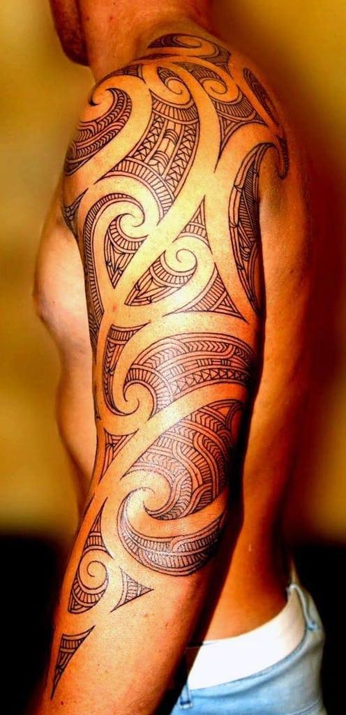 Tribal Full Sleeve Tattoos For Men