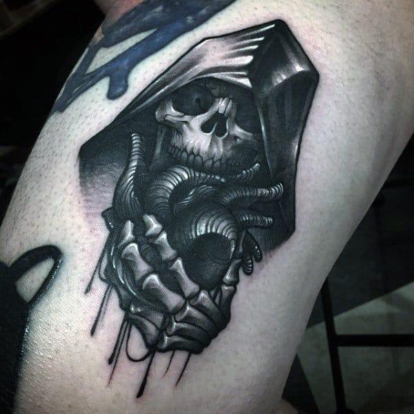 Tribal Grim Reaper Tattoos For Men