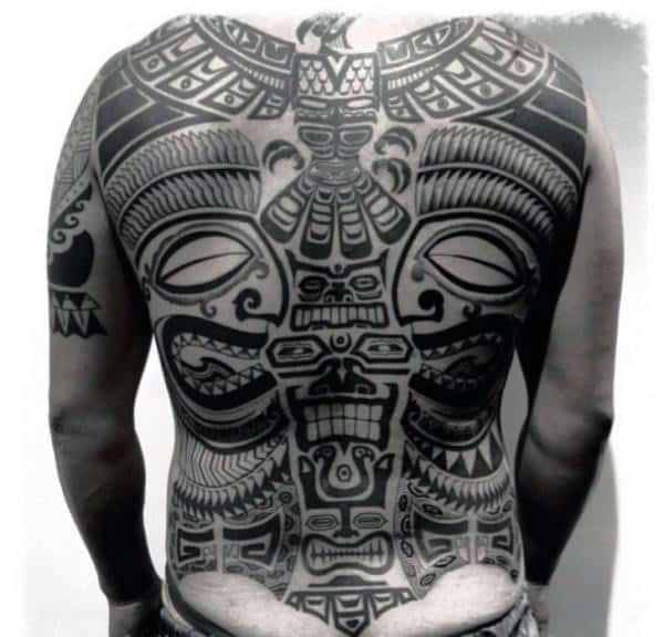 Tribal Guys Full Back Tattoos