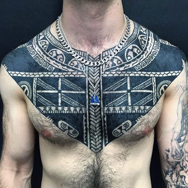 Tribal Guys Tattoos Chest To Arm