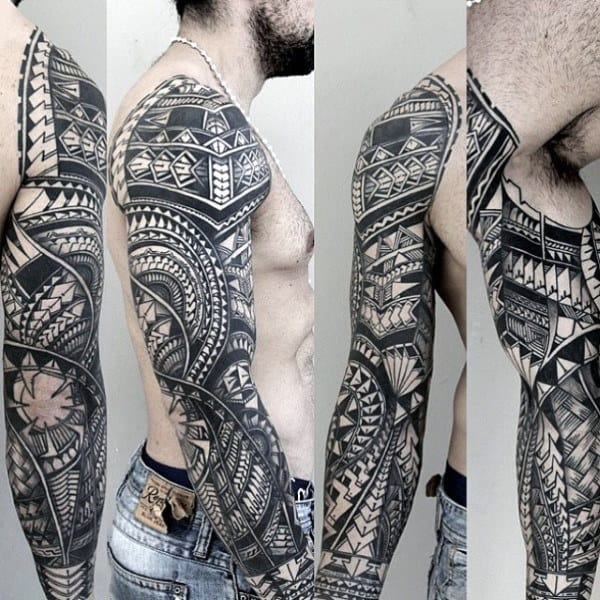 Tribal Guys Unique Sleeve Tattoo