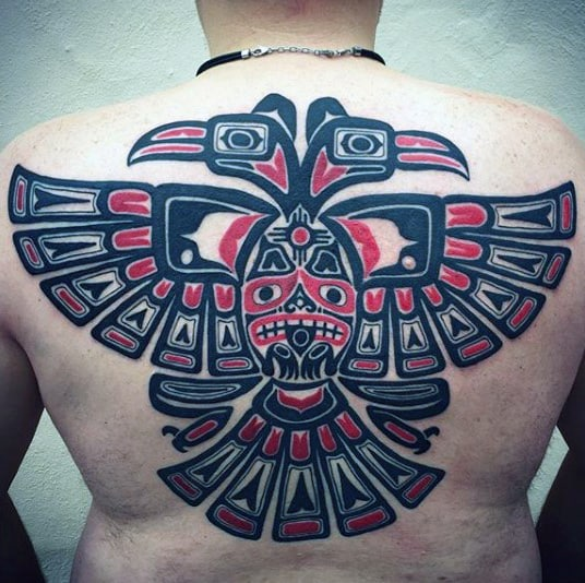 Tribal Haida Tattoo Male Back