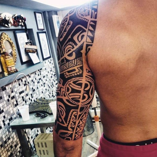 Tribal Half Sleeve Mens Awesome Tattoo Designs