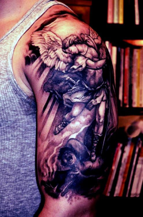 Angel Half Sleeve Tattoos For Men