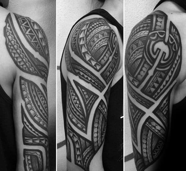 Tribal Half Sleeve Tattoo Men